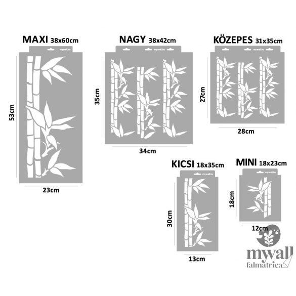 Bambusz - MyWall stencilcsalád