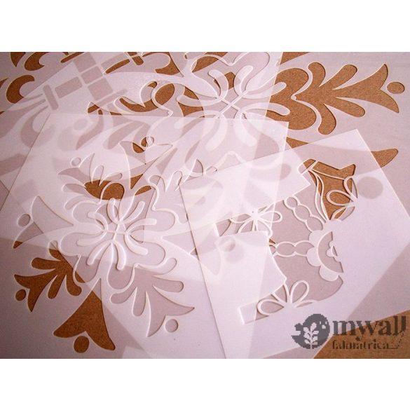 Kis virágos-MyWall stencilcsalád