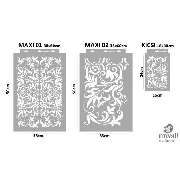 Barokkos indák - MyWall stencil