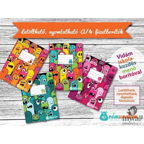 A/4 füzetborító LETÖLTHETŐ, NYOMTATHATÓ designer borító