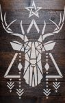 Szarvas - MyWall stencil