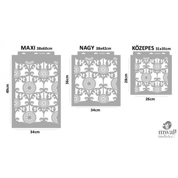 Barokk virágos - MyWall stencilcsalád
