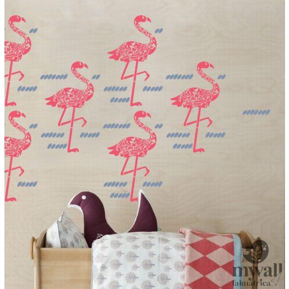 Flamingók - MyWall stencilcsalád