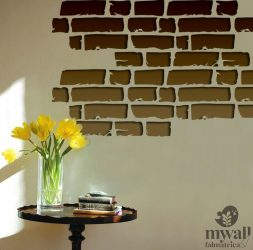 Bontott tégla - MyWall stencil