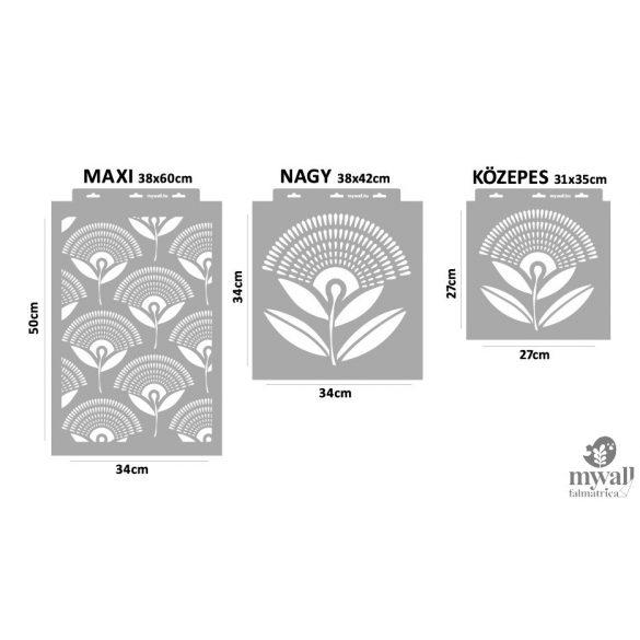 Legyező virág - MyWall stencilcsalád