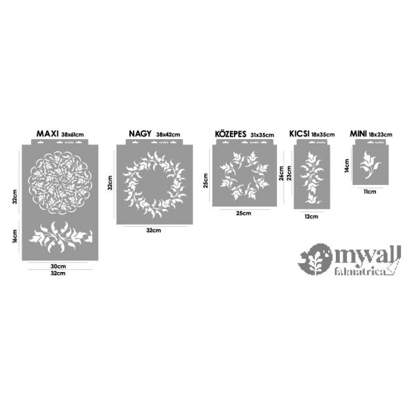 Cifra leveles-MyWall stencil