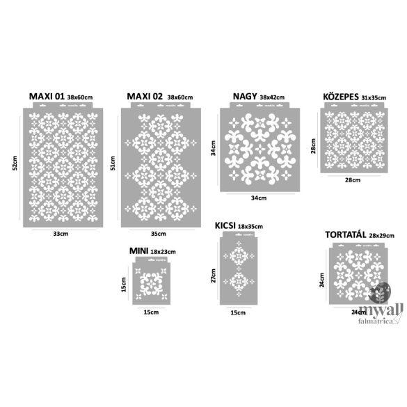 Szőnyegminta - MyWall stencilcsalád