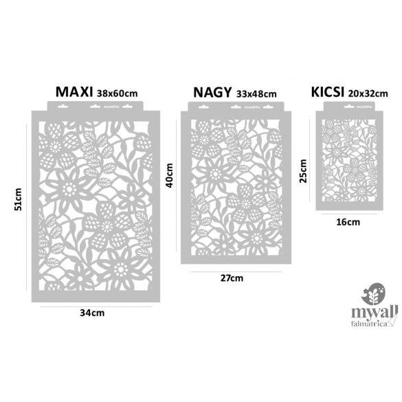 Csipke virágok - MyWall stencil