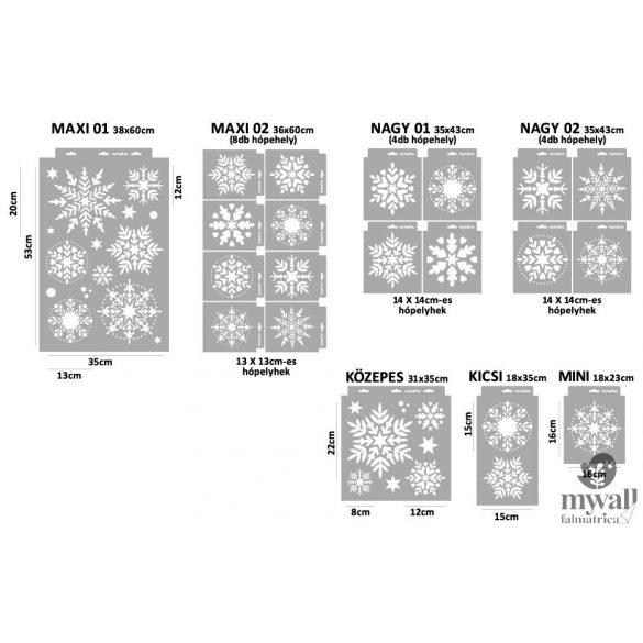 Hópehely 02 - Mywall stencil