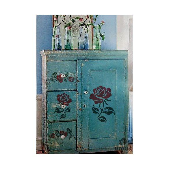 Rózsakert 02 - MyWall stencilcsalád