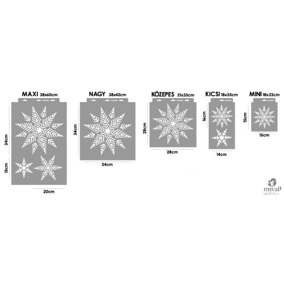 Hópehely - Mywall stencil
