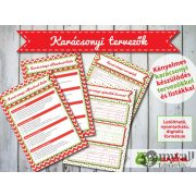 Letölthető/nyomtatható karácsonyi tervező a Rémuralom™-tól