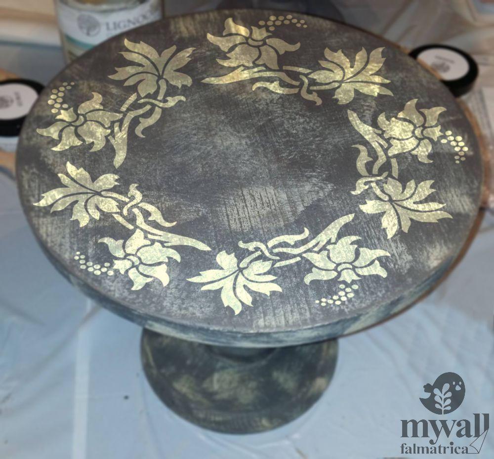 Kúszó virágok-MyWall stencil