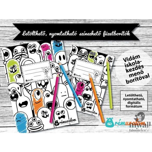 A/4 és A/5 színezhető füzetborítók LETÖLTHETŐ, NYOMTATHATÓ designer borító