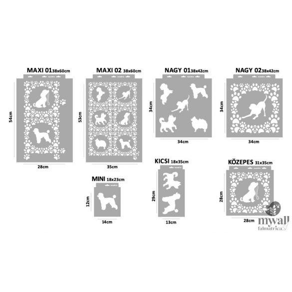 Kutyainvázió - MyWall stencilcsalád