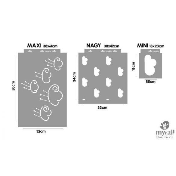 Felhők - Mywall stencil