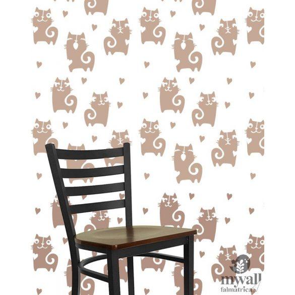 Szerelmes cicák - Mywall stencilcsalád