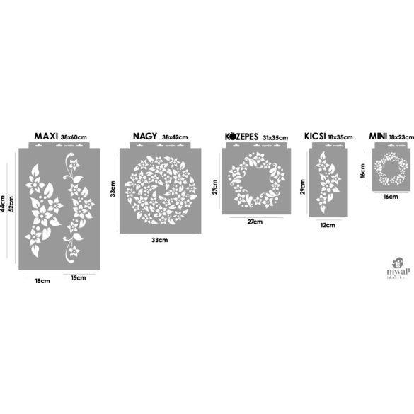 Kedves virágok-MyWall stencil