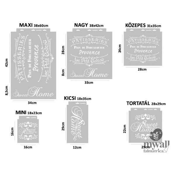 Provance - MyWall stencilcsalád