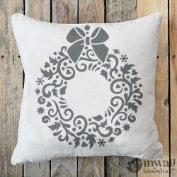 Karácsonyi koszorú - Mywall stencil
