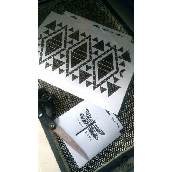 Szőttes - MyWall stencilcsalád