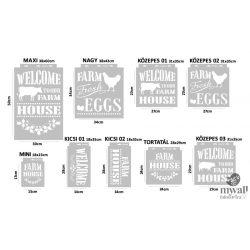 Farmhouse - MyWall stencilcsalád