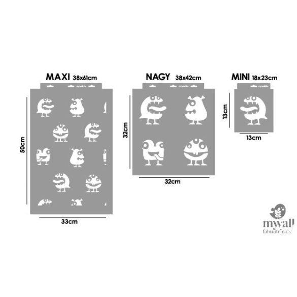 Szörnyinvázió - Mywall stencilcsalád